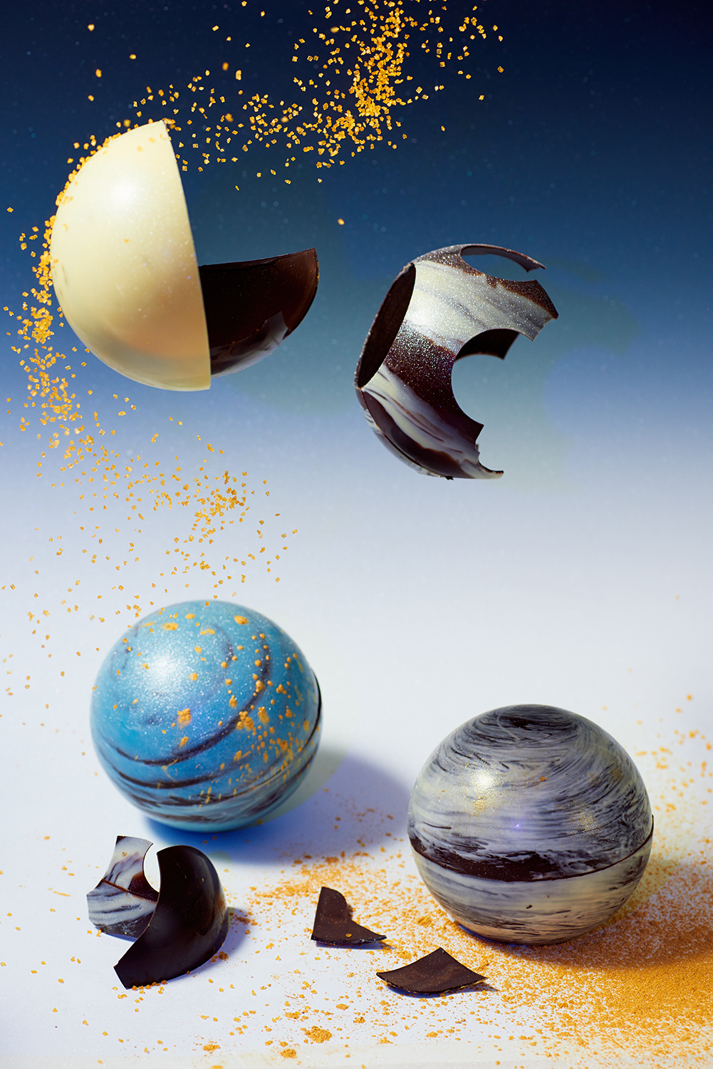 Private commission - chocolate planets